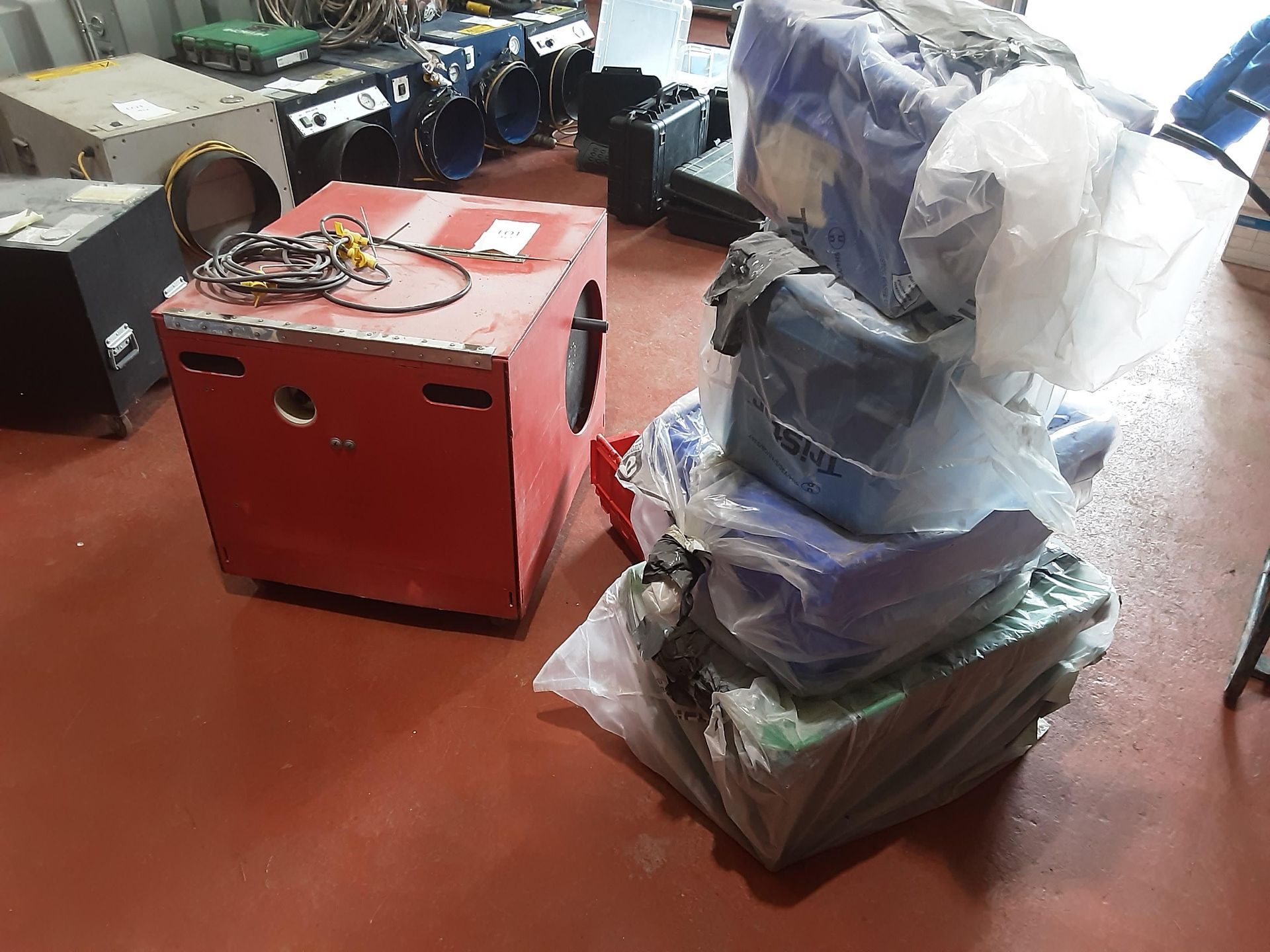 The Red Box Water Injection Machine & Accessories, Serial No. 6062, (2014)