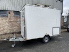 Mobile De-Contamination Unit Comprising Dirty End, Shower Enclosure, Clean End, Fitted with Knott