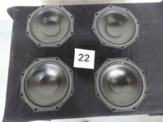 "4x Martin Audio DLS 8002 16 Ohm 8"" MF Driver For W8LM. Ex-hire/Working, Re-coned 2019"