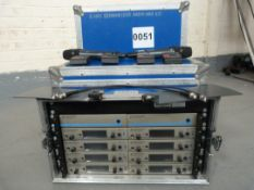 Sennheiser 8 way G3 ew300 Receiver Rack, EM300 G3 Rackmount Receiver, 4x SK300 G3 Body Pack