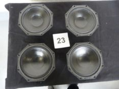"4x Martin Audio DLS 8001 16 Ohm 8"" LF Driver For W8LM. Ex-hire/Working, Re-coned 2020"