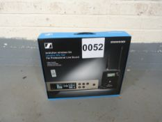 Sennheiser 100 Wireless Lavalier Set EW100 G4-ME2-GB 507502. In Cardboard. Serial No: 8379048113