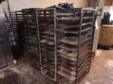 10 x Baking Tray Racking with Trays
