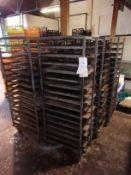 6 x Baking Tray Racking With Backing Trays