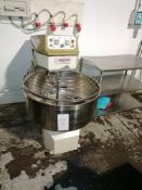 Sottoriva Commercial Spiral Dough mixer with Stainless Steel Bowl from 30 to 300 kg.