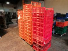 Large Anount Of Plastic Bread Trays Mainly Orange