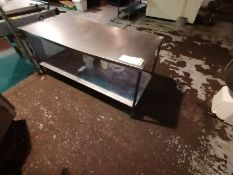 Stainless Steel Preperation Table With Steel Frame Length 183cm x Width 76cm Height 81cm Contents