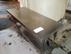 Stainless Steel Preperartion Table Length 179cm x Width 75cm x Height 85cm