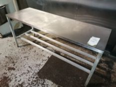 Stinless Steel Preperation Table With Aluminium Frame, Length 183cm Width 91cm Height 83cm