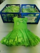 27 X Lime green flossie, babydoll set with large hairbow included- Sizes 00 to 3A