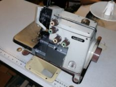 Brother EF4 - B511 613-5 Industrial 4 thread over locker sewing machine Serial No M7598568