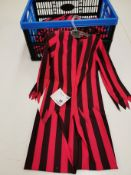 11pc Brown and red stripped bonfire themed night suits , Various sizes