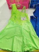 27pc Green bermuda dress, blue jump suit, Various sizes