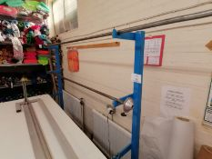 Fabric Roll strand to hold 3 x fabric rolls , supplied with 2x roll bars