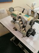 Yamato VC2730 156 M sewing machine. Coverstitch with top and bottom trimmer and arms Serial No