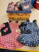 28pc Country babe baby doll dress in pink and blue . Various sizes