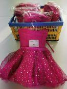 5pc Pink tutu sequin dress,Various sizes