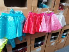 150+ Estimated skirts and sash in sizes-small-medium-large 6x boxes