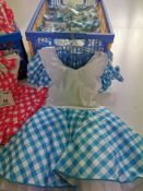 38pc Country baby doll dress pink and blue Various sizes
