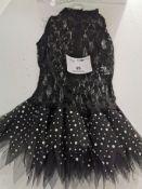 17pc Black lace sequin dress various sizes