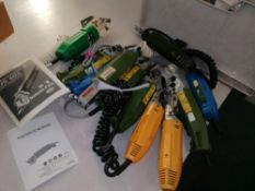 Mixed makes and models, spares or repair hand held fabric cutters.