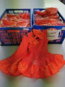 34pc x Orange flossie, babydoll set with large hairbow included- Sizes 00 to 3A