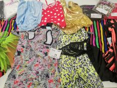 100pc Dance clothes including dresses,jumpsuits,leotards,catsuits. Various designs and sizes