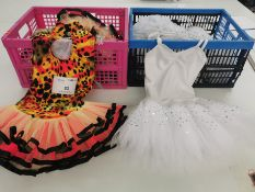 9pc Tutu dresses including white sequin and cheetah. Various sizes