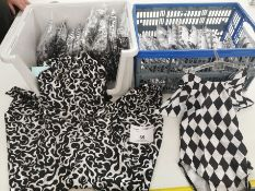 33pc Leotards and jump suits , Various sizes