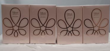 4 x Lalique Womens Reve D'Infini. 50ml EDP & 150ml Body Lotion. Condition New & Sealed. (RRP £288)