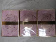 3 x Lalique Womens L'Amour Gift Sets. 50ml EDP & 150ml Body Lotion. Condition New & Sealed. (RRP £