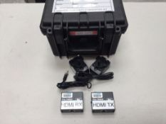 Kramer PT-571 & PT-572+ HDMI over Cat5 TX/RX Kit with PSU's c/w Flightcase