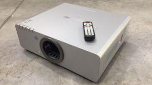 Panasonic PT-DW640 Projector (671 Hours on Lamps) c/w Remote & Flightcase