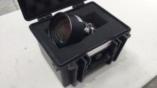 Panasonic 1.8 - 2.5:1 Single Chip DLP Standard Zoom Lens / Flightcase