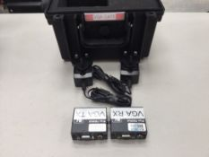 Kramer PT-110XL / PT120XL VGA over Cat5 TX & RX Kit with PSU's c/w Flightcase