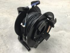 Kramer 50m DVI Fibre Cable on a drum with PSU