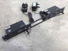 Kramer TP-580T / TP-580R Cat5 Transmit and Recieve Kit c/w PSU's & 1U Rack Mount