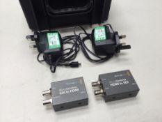 Blackmagicdesign Micro Converter Kit SDI to HDMI / HDMI to SDI & PSU's c/w Flightcase