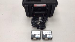 Kramer PT-571HDCP / PT572HDCP+ DVI over Cat5 TX & RX Kit with PSU's c/w Flightcase