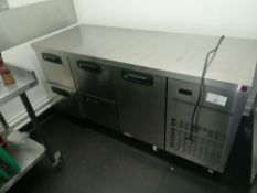 Inomak Stainless steel 4 draw counter preperation