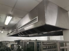 Commercial stainless steel extractor canopy hood,
