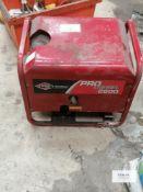 Briggs & Stratton Diesel generator set Model Pro diesel 2600 Serial No 09134013 2.6kVA