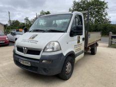 Vauxhall Movano 3500 CDTI MWB, 2,464cc, 6 Speed Diesel Tipper, Registration No. BF59 KKG Recorded