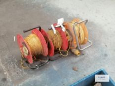 1 x 110 volt exstention cable reel and 2 x tester cables reels