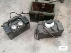Pair of WW2 Field telephones