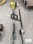 Ryobi RLT30CESA with hedge trimmer & chain saw attachments