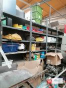 4 x Bolted racking Including contents (Does not include machine item to the forefront in images)