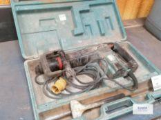 Makita HM 1100C Sds max demolition hammer drill Serial No 60961 Date of Man 2006