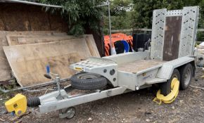 Indespension V21 Version A Twin Axle 2,700Kg Capacity Plant Trailer, Serial No. 137182 (2019) with