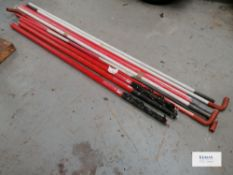 3 X Guardian Telescopic Overhead Cable Goal Post and cross bars with 4 No Plastic Base Units (